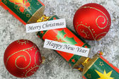 Merry Christmas and Happy New Year cards — Stock Photo