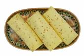 Cheese with cumin seeds — Foto Stock