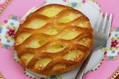 Custard pie, close up — Photo