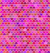 Seamless patterns with colored hearts . Vector — Stock Vector