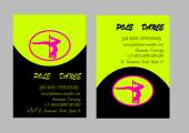 Pole Dance  Templates. Flyer and Business Card. Vector illustration — Stock Vector