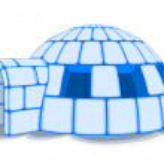 Snow Igloo, Vector Illustration — Stock Vector #55749119