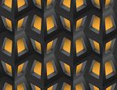 Window Lattice with Light 3d Seamless Pattern, Vector Illustration. — 图库矢量图片
