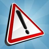 Danger Warning Traffic Sign, Vector Illustration. — Stock Vector
