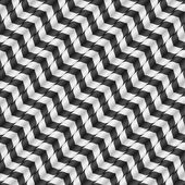 Moving Stripes, Optical Illusion, Vector Seamless Pattern. Some motion and waving appear. — Vector de stock