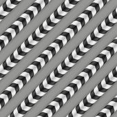 Moving Stripes, Optical Illusion, Vector Seamless Pattern. Some motion and waving appear. — ストックベクタ