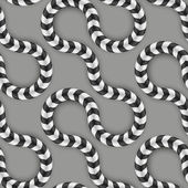 Zig Zag Stripes, Optical Illusion, Vector Seamless Pattern. Some Motion Appear. — Vector de stock