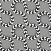 Zig Zag Stripes, Optical Illusion, Vector Seamless Pattern. Some Motion Appear. — ストックベクタ