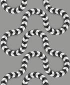 Zig Zag Stripes, Optical Illusion, Vector Seamless Pattern. Some Motion Appear. — Cтоковый вектор