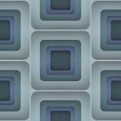 3D Squares, Vector Seamless Pattern. — Vecteur