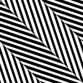 Black White Diagonal Stripe Vector Seamless Pattern — Vecteur
