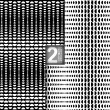 Halftone Style Vector Black White Seamless Patterns, Set of 2 — Stock Vector #55750547