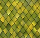 Abstract Yellow Green Rhombus Mosaic Seamless Vector Pattern. Shadows Add Dimensional Effect. — Stock Vector
