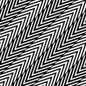 Abstract Black and White Herringbone Illusion Vector Seamless Pattern. Line appears to tilt. — Stock Vector