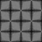 Op Art Halftone Bulge Black White, Vector Seamless Pattern — Stock Vector
