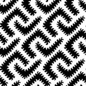 Abstract Vector Black White Seamless Pattern with Worms. Some motion illusion effect may appear. — Stok Vektör