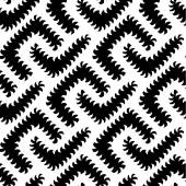 Abstract Vector Black White Seamless Pattern with Worms. Some motion illusion effect may appear. — Vecteur