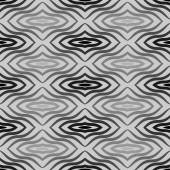 Op Art  Black White Vector Seamless Geometric Pattern. Some Waving Effect May Appear. — Vecteur