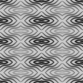 Op Art  Black White Vector Seamless Geometric Pattern. Some Waving Effect May Appear. — Vector de stock