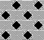 Abstract Black and White ZigZag Vector Seamless Pattern — Stock Vector