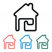 Simple Home Icon, Vector Illustration — Vettoriale Stock