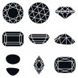 Gemstone Shapes Icons, Vector Illustration — Stock Vector #64531787
