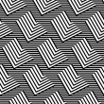 Op Art Design, Zig Zag Striped Vector Seamless Pattern — Stock Vector #64534113