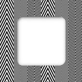 Abstract Black and White Herringbone Fabric Style Vector Frame B — Stock Vector