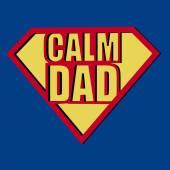 Calm Dad T-shirt Typography, Vector Illustration — Stok Vektör