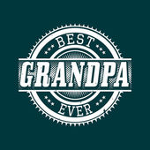 Best Grandpa Ever T-shirt Typography, Vector Illustration — Stock Vector