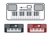 Synthesizer Icons Set, Vector Illustration — Stock Vector