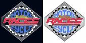 Motorcycle Thrilling Races Badge, T-shirt Typography Graphics De — Stock Vector