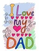 I Love My Dad T-shirt Typography, Vector Illustration — Stock Vector