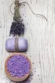 Kits for lavender spa treatments — Stok fotoğraf