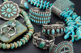 Collection of Native American Jewelry. — Photo