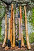 Collection of Didgeridoo's. — Stock Photo