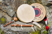 Native American Drums, Flute and Shaker. — Photo