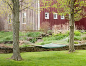 Hammock in a country setting. — Stock Photo