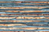 Weathered Barn Wall with Overlapped Wood Siding — Stock Photo