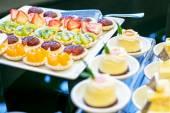 Wedding pie and dessert on reception — Stock Photo