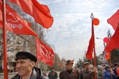 Communists in Russia — Stock Photo