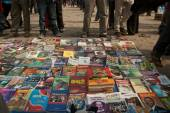 Socialistic books on the market in Kathmandu — Stock Photo