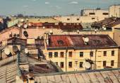 Skyline view on roofs — Stock Photo