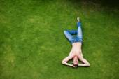 Man relaxing on grass — Stock Photo