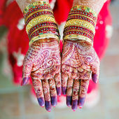 Henna wedding design — Stock Photo