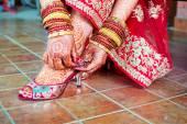Henna mehndi wedding design — Stock Photo