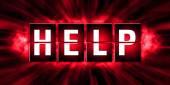 HELP Tags Design - Illustration — 图库照片