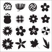 Flower vector set — Stock Vector