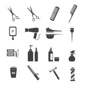 Icone attrezzature parrucchieri — Vettoriale Stock