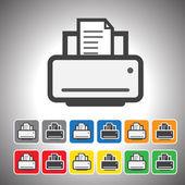 Printer icon.vector — Stockvektor